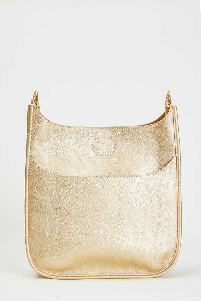 Load image into Gallery viewer, Gold Vegan Messenger Bag- STRAP NOT INCLUDED