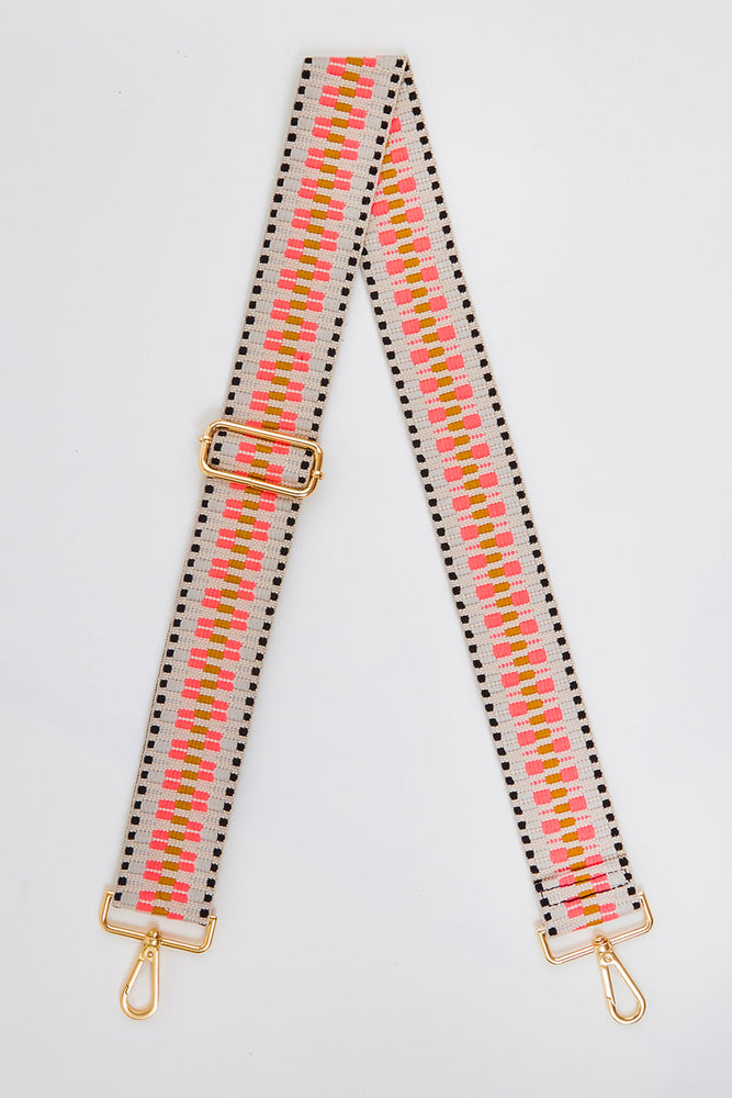 Neon Embroidered Bag Strap