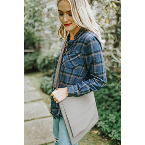 Vegan Flap Messenger Bag