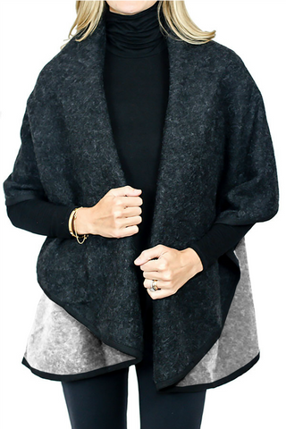 Look by M Reversible Wrap Cape (available in black/grey)