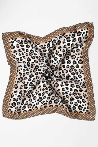 Leopard and Polka Dot Square Scarf