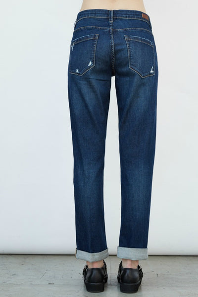 Blank NYC Distressed Boyfriend Jean