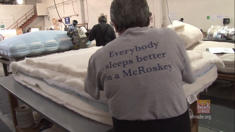 SFMade Manufacturing Minute - McRoskey Mattress Company