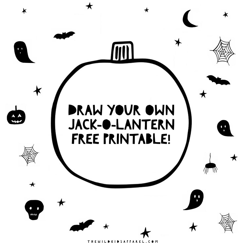 Draw Your Own Jack-O-Lantern Free Printable for Kids!
