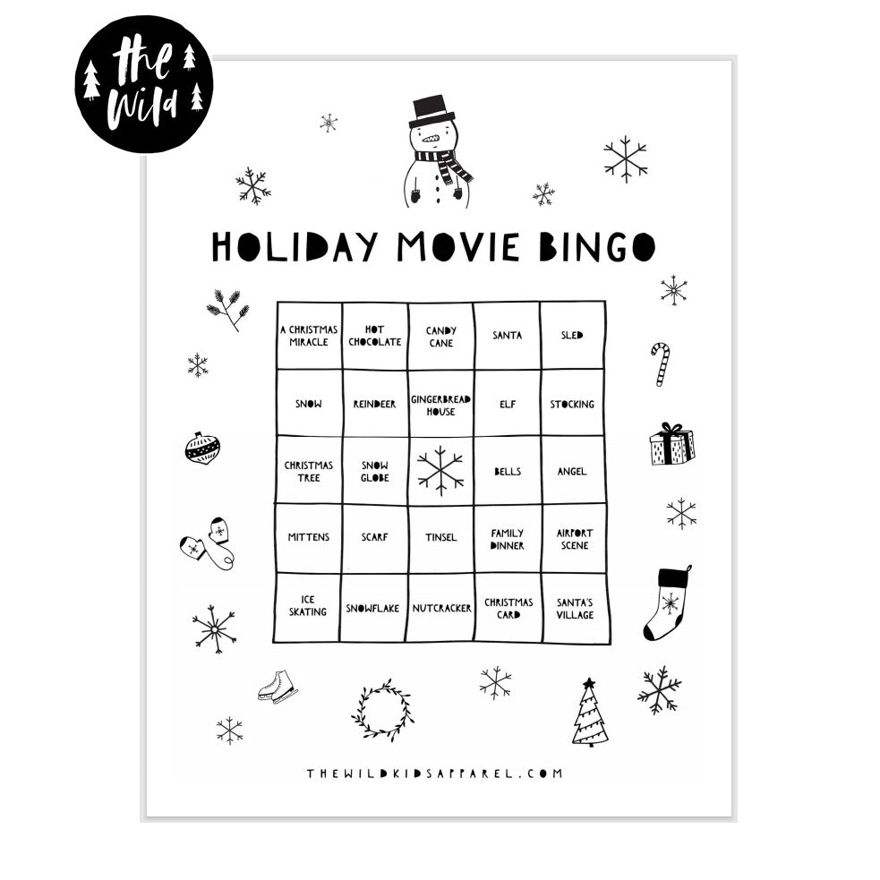 Holiday Movie Bingo Free Printable! PLUS Our Top Fav Holiday Movies