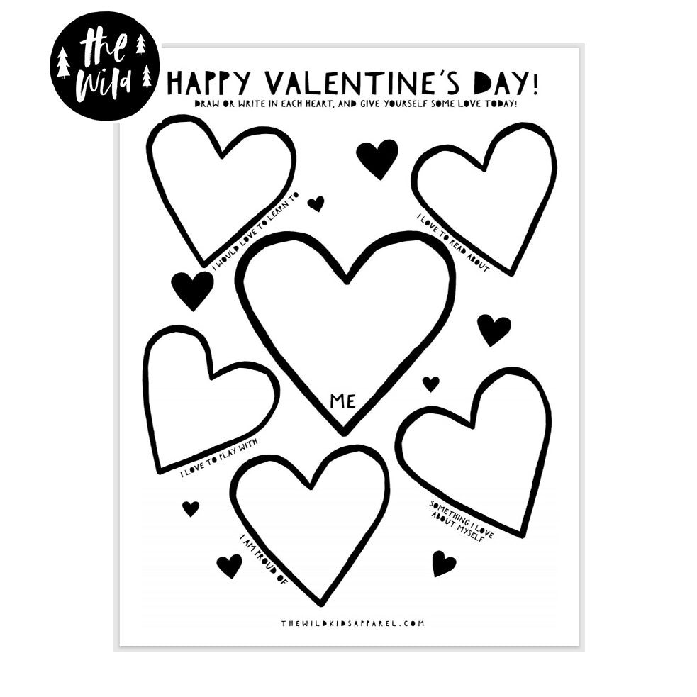 Happy Valentine's Day Self Love Free Printable For Kids