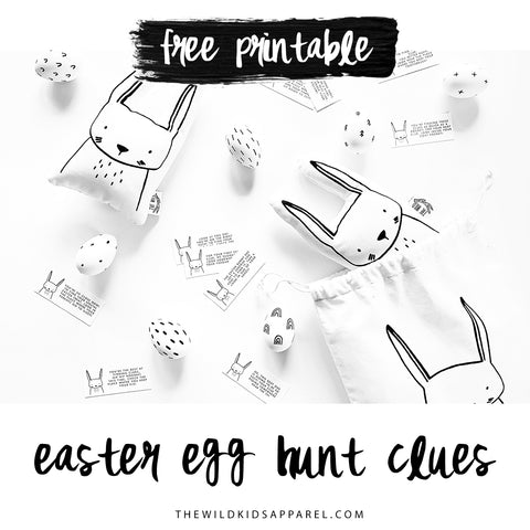 Easter Egg Hunt Clues - A free printable!