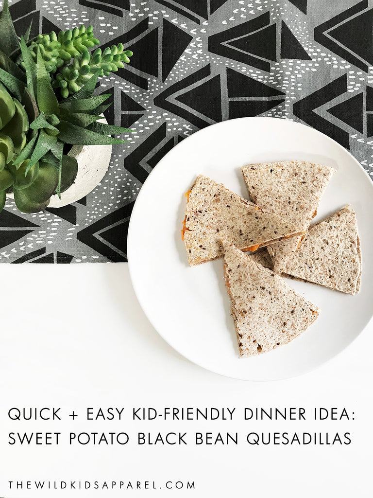 Quick and Easy Kid-Friendly Dinner Idea: Sweet Potato Black Bean Quesadillas