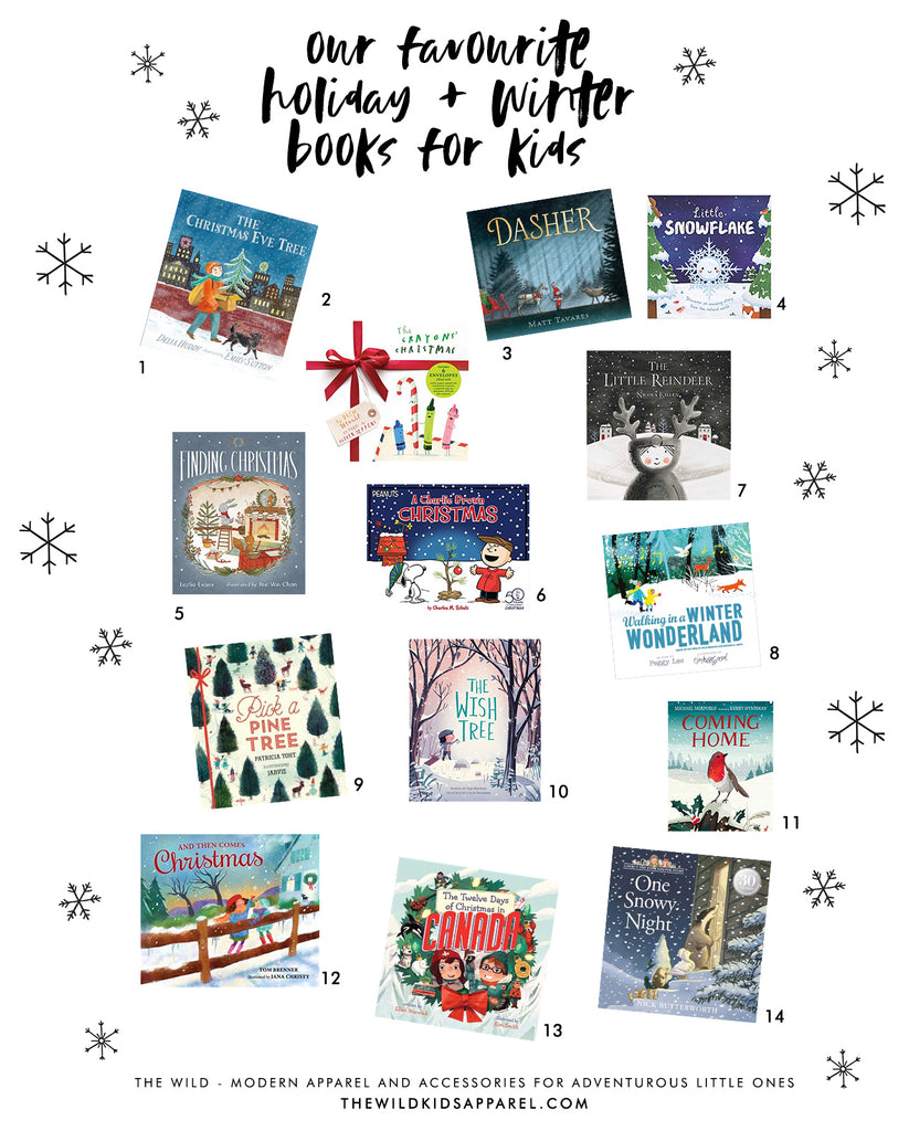 Our Favourite Winter and Holiday Books for Kids by The Wild - thewildkidsapparel.com