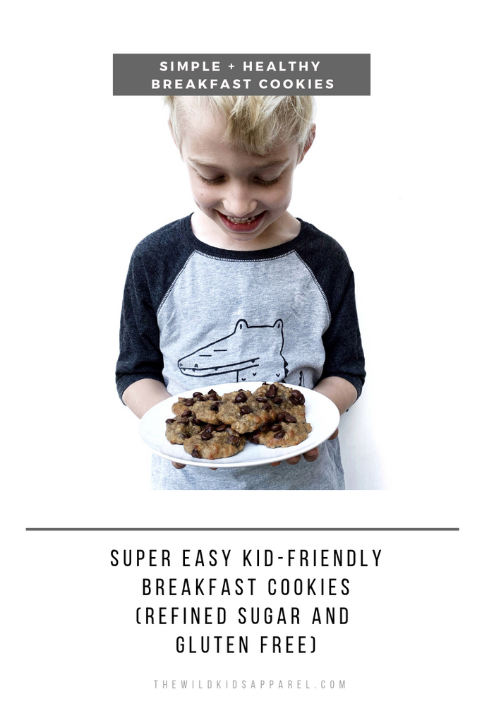 Simple and Easy Breakfast Cookies - Refined Sugar and Gluten Free - thewildkidsapparel.com
