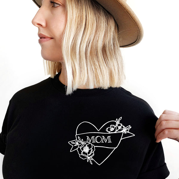 Mom Heart Tee by The Wild - thewildkidsapparel.com