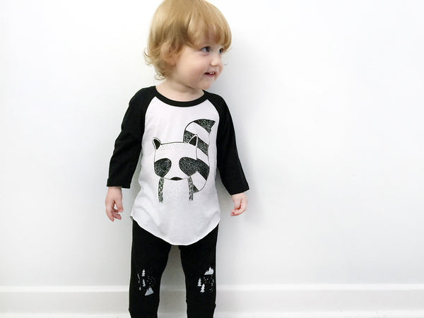 Rocky the Raccoon Baseball Tee by The Wild