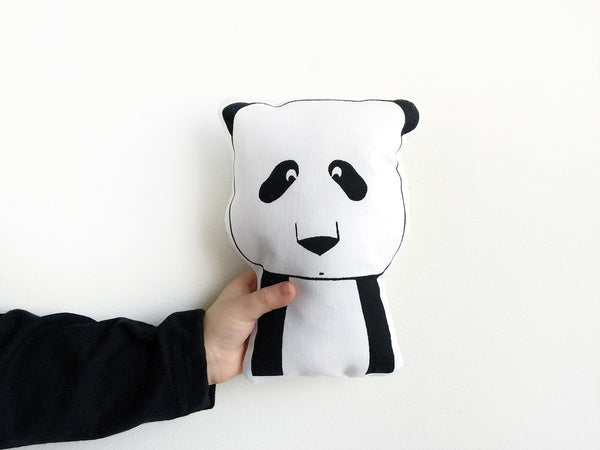 Modern Soft Toy Pillow - Hand Printed Stuffed Toy by The Wild
