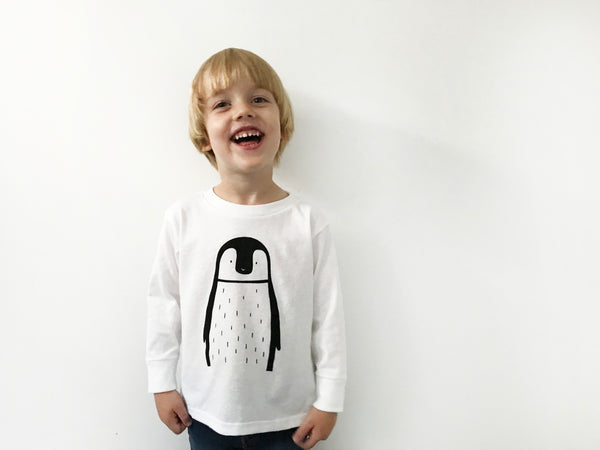 Pablo the Penguin Long Sleeve Tee by The Wild - thewildkidsapparel.com