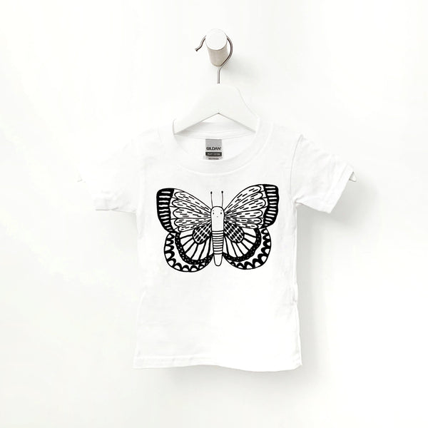 Blue the Butterfly Kids T-shirt