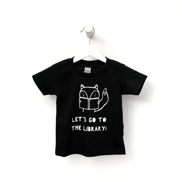 Let's Go To the Library Kids T-shirt