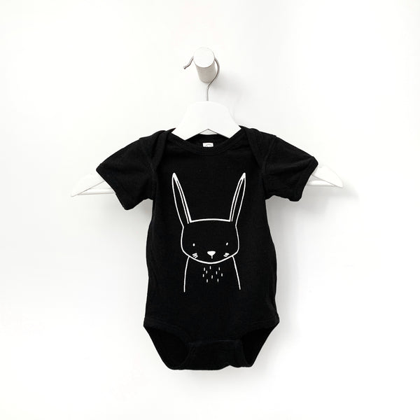 Hazel the Hare Short Sleeve Baby Onesie by The Wild - thewildkidsapparel.com