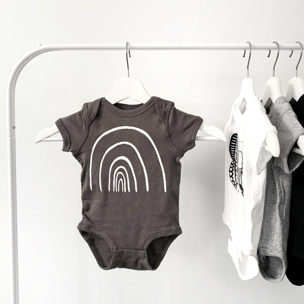 Rainbow Short Sleeve Baby Onesie by The Wild - thewildkidsapparel.com