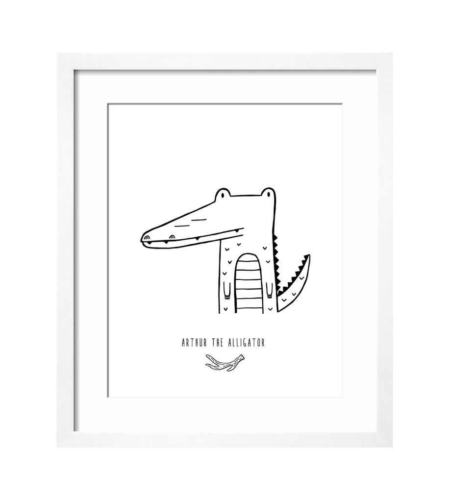 Arthur the Alligator Art Print by The Wild - thewildkidsapparel.com