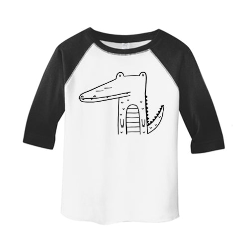 Arthur the Alligator Kids Baseball T-Shirt by The Wild - thewildkidsapparel.com