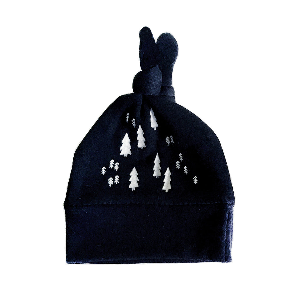 The Wild Unisex Knotted Baby Beanie - Black