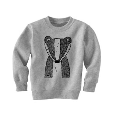 Benjamin the Badger Kids Sweatshirt by The Wild - thewildkidsapparel.com