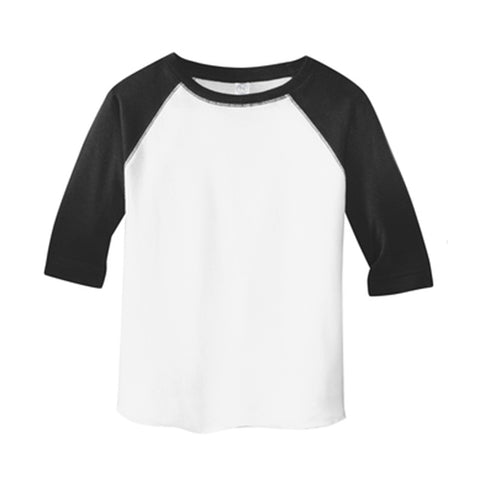 Custom Black and White Kids Raglan Baseball Tee - Choose Your Own Design!