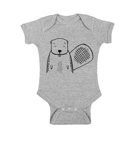 Boots the Beaver Baby One Piece by The Wild - thewildkidsapparel.com