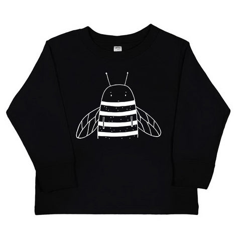 Bowie the Bumblebee Long Sleeve Kids T-Shirt - thewildkidsapparel.com