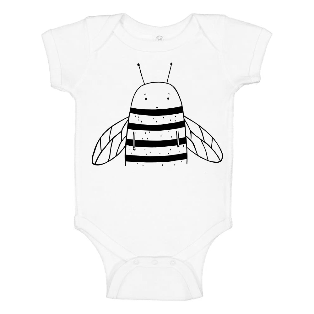 Bowie the Bumblebee Short Sleeve Baby Onesie by The Wild - thewildkidsapparel.com