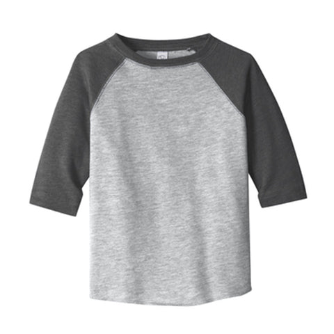 Custom Grey Kids Raglan Baseball Tee - Choose Your Own Design!