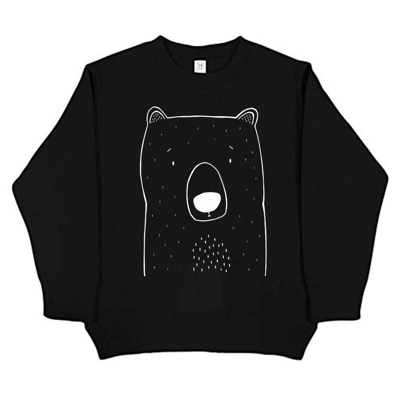 Bob the Grizzly Bear Handprinted Sweater by The Wild - thewildkidsapparel.com
