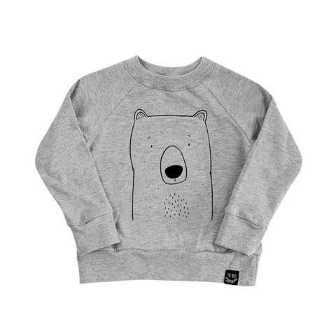 Bob the Grizzly Bear French Terry Sweater by The Wild - thewildkidsapparel.com