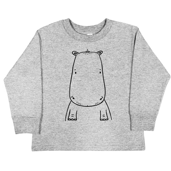 Holden the Hippo Long Sleeve Kids T-Shirt by The Wild - thewildkidsapparel.com