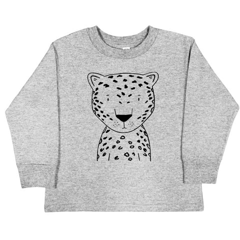 Lennon the Leopard Long Sleeve Kids tee - thewildkidsapparel.com