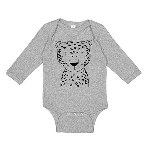 Lennon the Leopard Long Sleeve Baby Onesie
