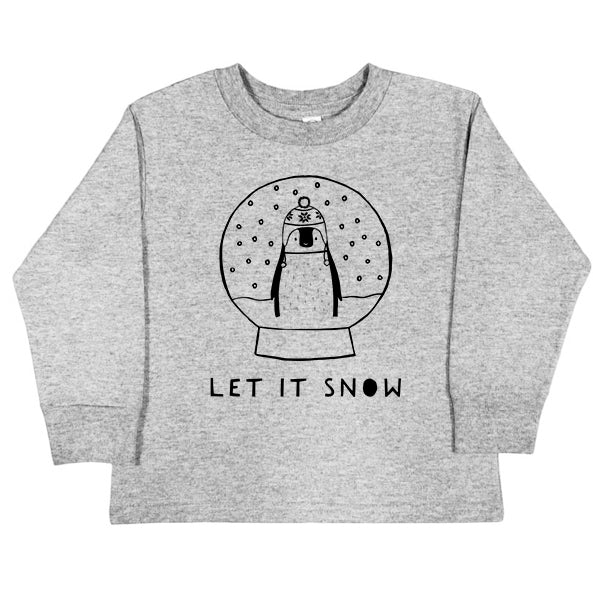 Let It Snow Long Sleeve Kids T-Shirt by The Wild - thewildkidsapparel.com