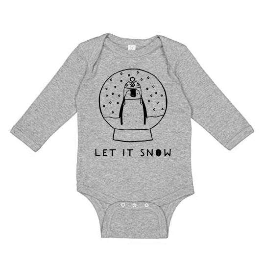 Let It Snow Long Sleeve Baby Onesie by The Wild - thewildkidsapparel.com
