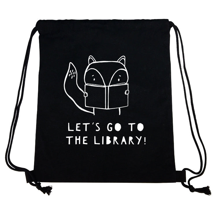 Let's Go To The Library String Backpack by The Wild - thewildkidsapparel.com
