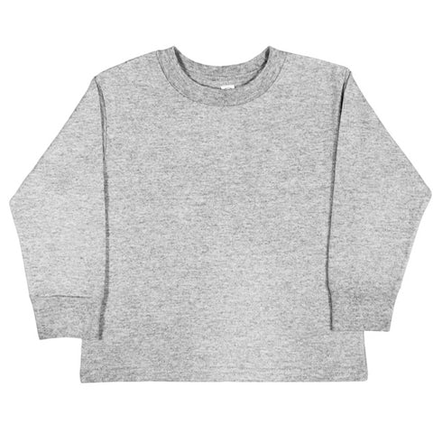 Custom Grey Long Sleeve Kids Tee - Choose Your Own Design!