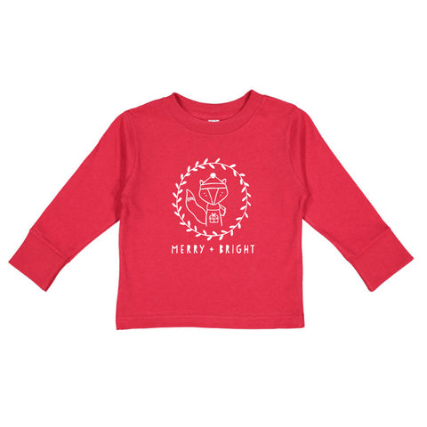 Merry + Bright Long Sleeve Kids T-Shirt