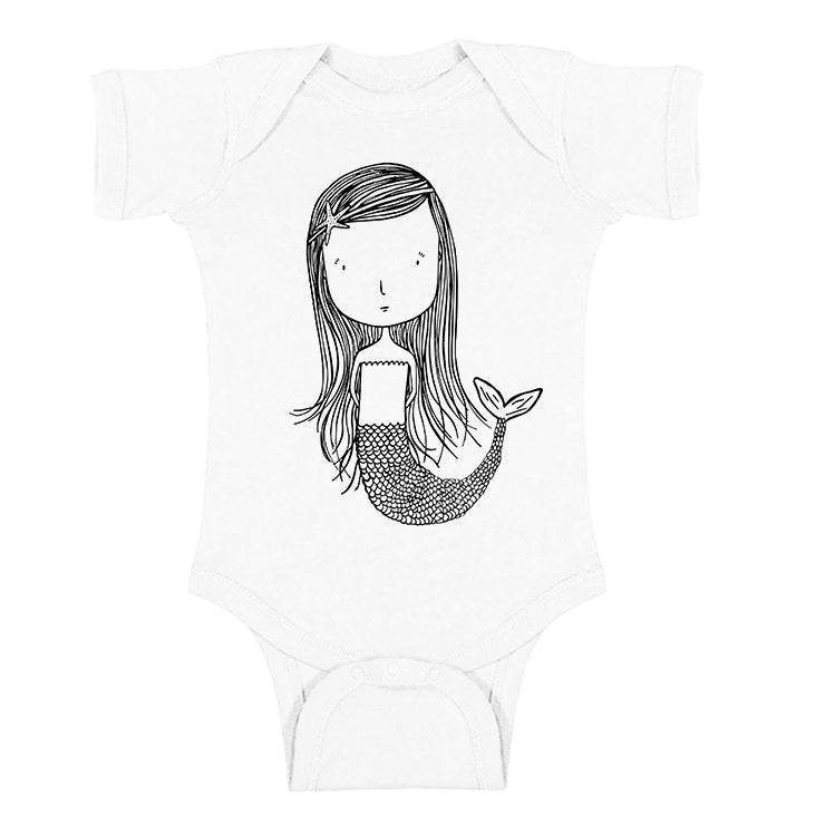Marlowe the Mermaid Short Sleeve Onesie