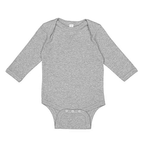 Custom Grey Long Sleeve Onesie - Choose Your Own Design!