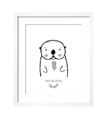 Modern Art Print - Oslo the Otter