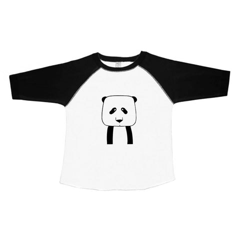Penelope the Panda Kids Baseball Tee by thewildkidsapparel.com
