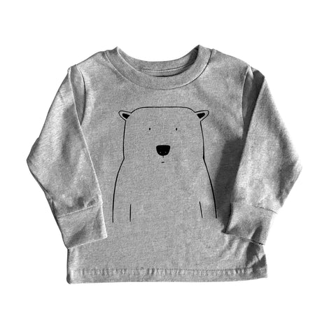Percy the Polar Bear Long Sleeve Tee by The Wild - thewildkidsapparel.com