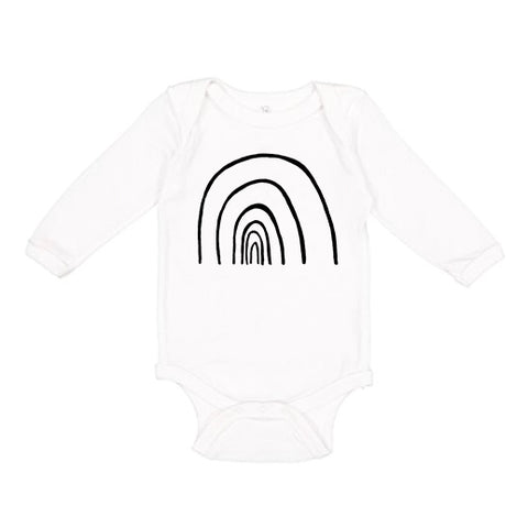 Rainbow Long Sleeve Baby Onesie by The Wild - thewildkidsapparel.com
