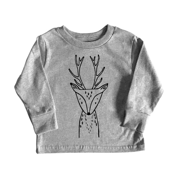 Rachel the Reindeer Long Sleeve Kids Tee by The Wild - thewildkidsapparel.com