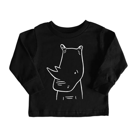 River the Rhinoceros Long Sleeve Tee by The Wild - thewildkidsapparel.com