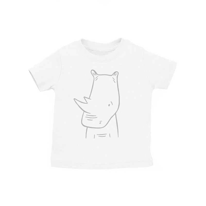 River the Rhinoceros Kids T-Shirt by The Wild - thewildkidsapparel.com